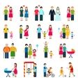 Family Figures Icons vector image