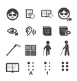 blind man icon vector image