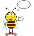 Talking Bumble Bee Cartoon vector image vector image