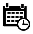 calendar icon on white background calendar sign vector image