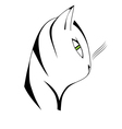 cat head vector image
