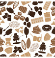 chocolate icons seamless color pattern eps10 vector image