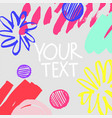 collection of trendy cards with geometric shapes vector image