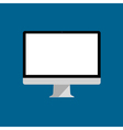 Flat icon of computer monitor vector image