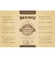 Restaurant cafe pizzeria menu template vector image