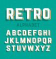 retro style 3d alphabet vector image