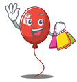 shopping balloon character cartoon style vector image
