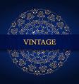 Vintage monogram gold vector image