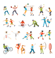 Kids Sport Icons Set vector image