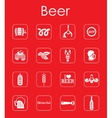 Set of beer simple icons vector image