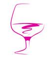 glass wine vector image vector image