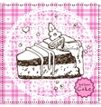Hand drawn Cake vector image