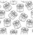 gift black pattern vector image vector image
