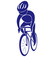 Cycling icon in blue color vector image
