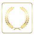 Gold laurel wreath Symbol victory vector image