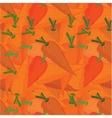 Orange carrots seamless pattern vector image