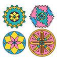 abstract colorful mandalals and circles vector image