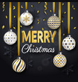 christmas background with shining gold ribbons vector image