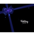 Elegant holiday banner with photorealistic blue vector image
