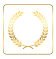 Gold laurel wreath Symbol victory vector image