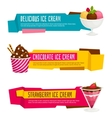 Icecream colour paper banners Cartoon vector image