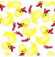 pattern from duckling vector image