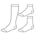 Set of blank socks vector image