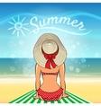 Sunbath vector image