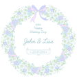 floral ribbon wreath vector image vector image