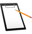 Clipboard with pencil Vector Image