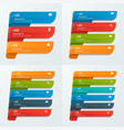 Infographic templates with ribbons 3-6 options vector image