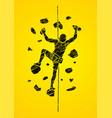 man climbing on the wall vector image