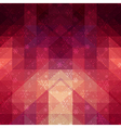 Red winter background with triangle texture vector image