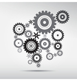 Abstract cogs - gears on grey background vector image vector image
