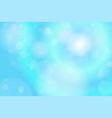 Light blue bokeh abstract background vector image