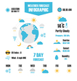 207isolated weather info vector image