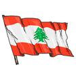 flag of Lebanon vector image vector image