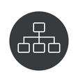 Monochrome round scheme icon vector image