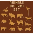 origami animals vector image