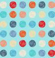 Color seamless grunge polka dots pattern vector image