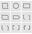 black quote form icon set vector image