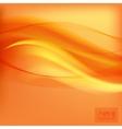 Orange smooth light lines background vector image vector image
