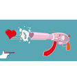 Love gun Arms Cupids vector image
