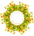 Orange yellow primroses wreath vector image