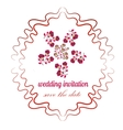 rose in bright colors in cartoon style for wedding vector image