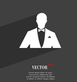 Silhouette of man in business suit symbol Flat vector image