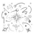 stars hand drawn vector image