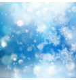 winter bokeh background with blurred snowflakes vector image