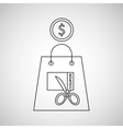 commerce discount coupon money icon vector image