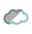 Isolated cloud weather vector image